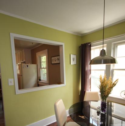 Kitchen pass through, stainless steel pendant light