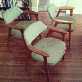 1964 Paoli chairs before reupholstery, found at an estate sale