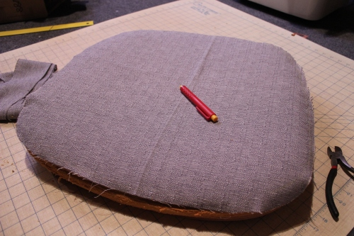 Measuring fabric for a seat cushion