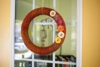 Faux Crochet wreath