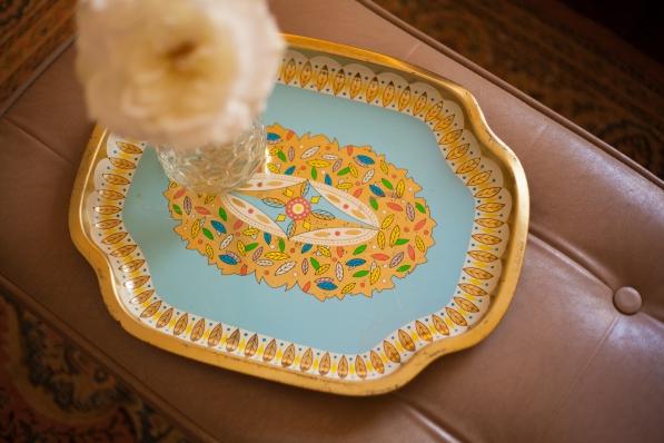 Mid century serving tray.