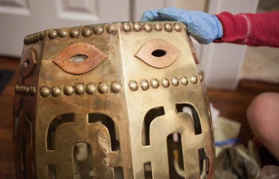Polishing brass using Brasso and Barkeeper's Friend