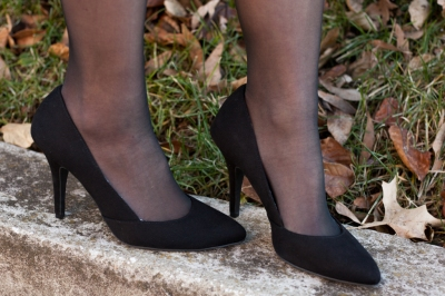 Perfect black pumps or high heels