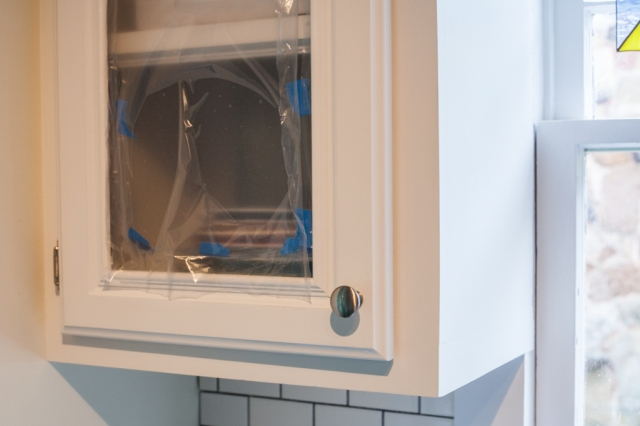 Installing glass front cabinets with plexi glass
