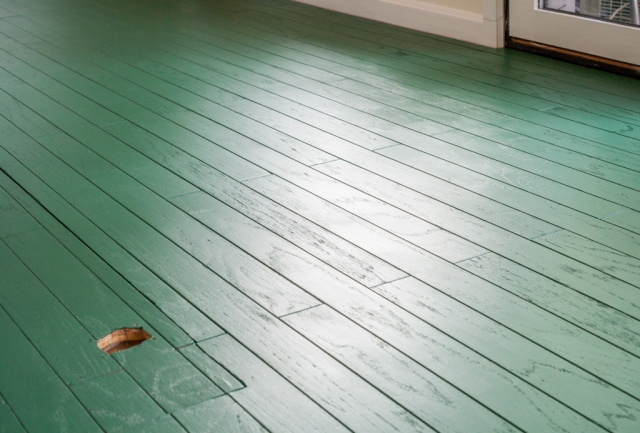 Painting hardwood floors; green floors