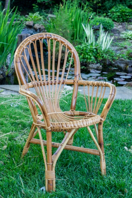 Vintage rattan chair; Albini style chair