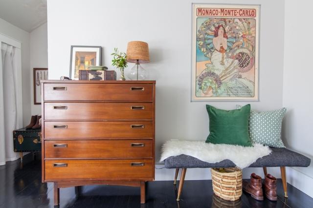 Vintage modern master bedroom styling.
