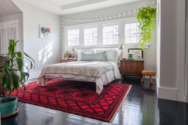 Vintage modern master bedroom.