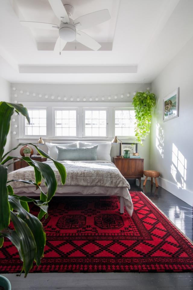 Vintage bohemian bedroom makeover