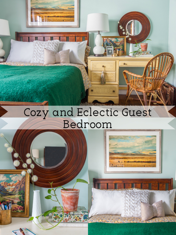 Cozy Eclectic Guest Bedroom